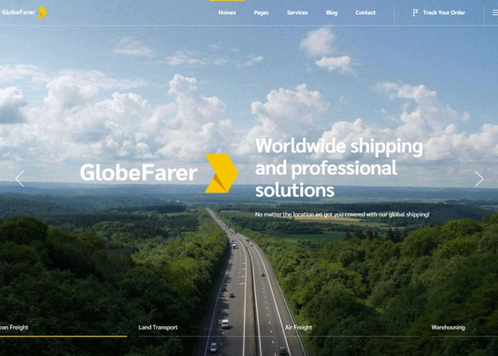 GlobeFarer – Premium Responsive Transportation WordPress Theme