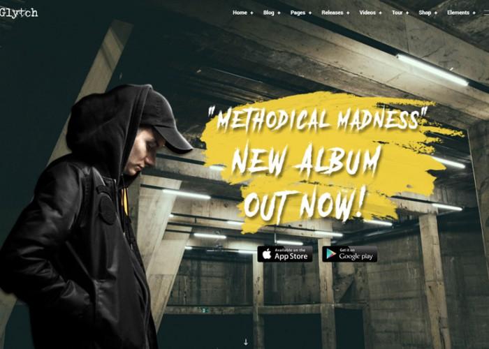 Glytch – Premium Responsive Vibrant Music WordPress Theme
