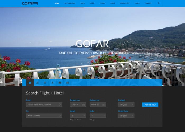 Gofar – Premium Responsive Multipurpose Travel Booking HTML5 Template