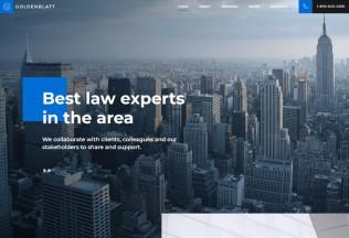 Goldenblatt – Premium Responsive Lawyer Attorney WordPress Theme