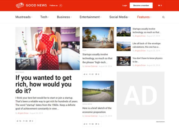 Good News – Premium Responsive Blog / Magazine WordPress Theme