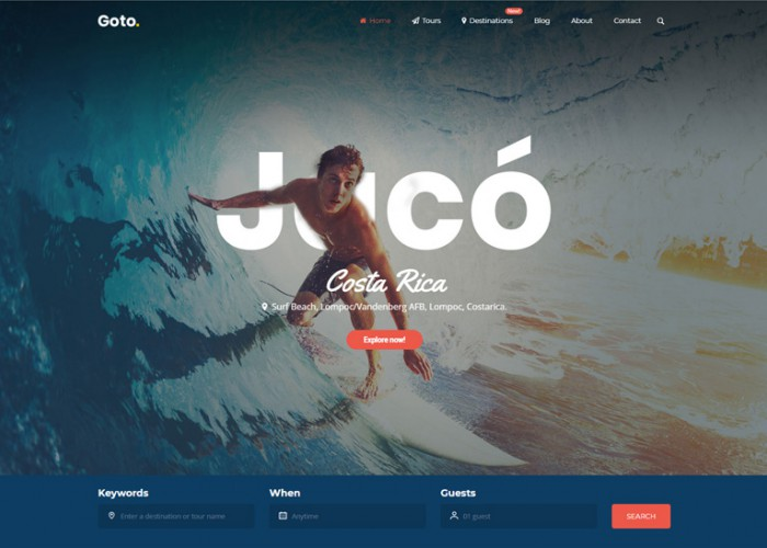Goto – Premium Responsive Travel WordPress Theme