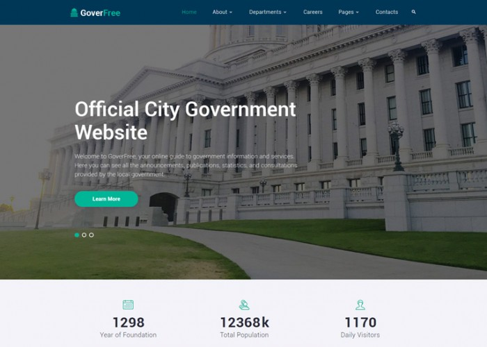 GoverFree – Premium Responsive Government HTML5 Template