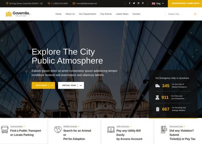 Governlia – Premium Responsive Political & Government HTML5 Template