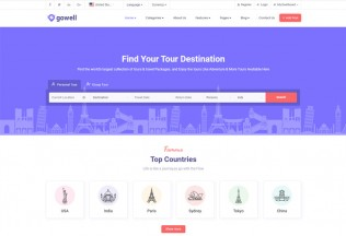 Gowell – Premium Responsive Travel Booking HTML5 Template