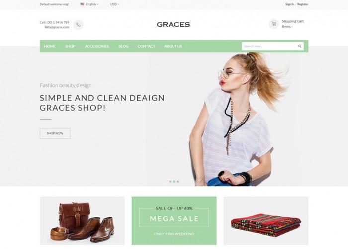 Graces – Premium Responsive Magento 1 & 2 Theme