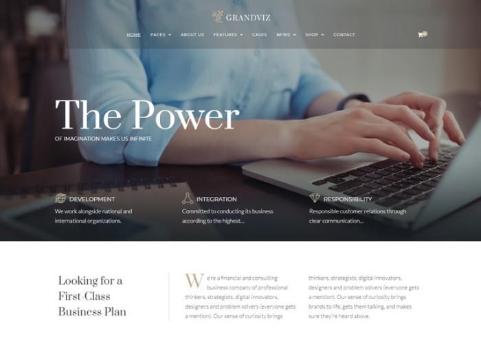 Grandviz – Premium Responsive Financial Company WordPress Theme
