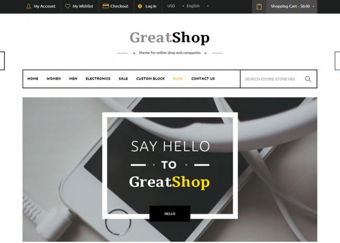 GreatShop – Premium Responsive Magento Theme