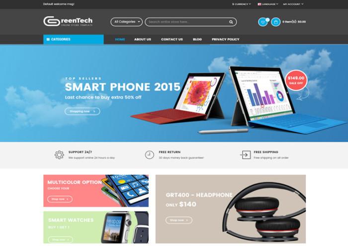 GreenTech – Premium Resposnive Responsive Opencart Theme