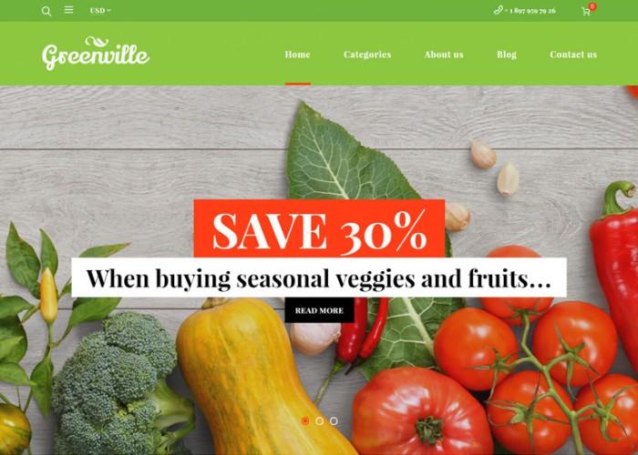 Greenville – Premium Resposnive Organic Food WooCommerce WordPress Theme