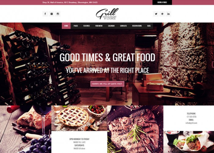 Grill – Premium Responsive Parallax Restaurant & Events Theme