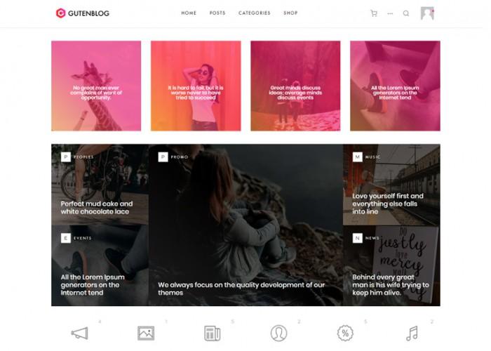 GutenBlog – Premium Responsive Modern Blog WordPress Theme