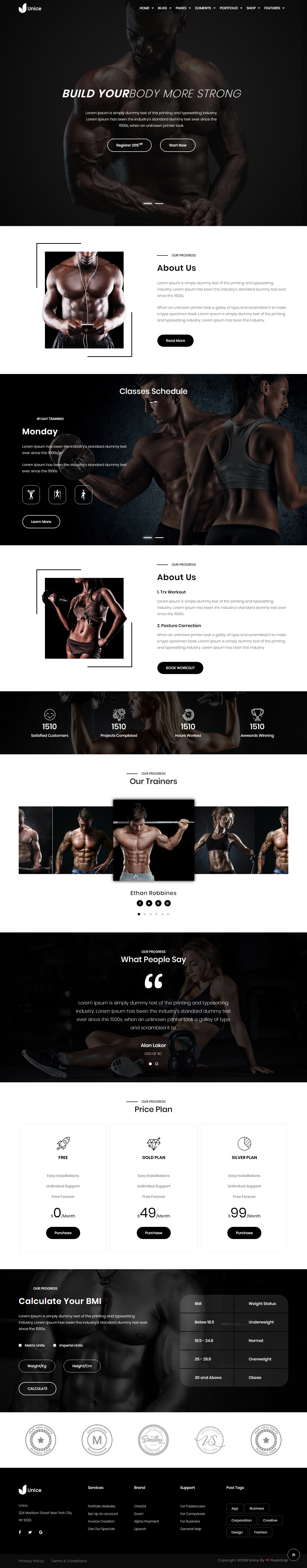 15 best html5 gym and fitness template 2020