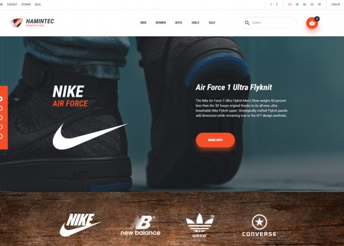 Hamintec – Premium Responsive Sneakers Store PrestaShop Theme