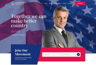 Harnold – Premium Responsive Political Campaign HTML5 Template