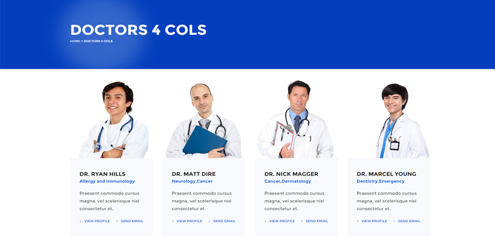 Doctors page