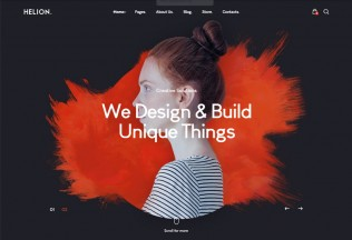 Helion – Premium Responsive Creative Portfolio WordPress Theme