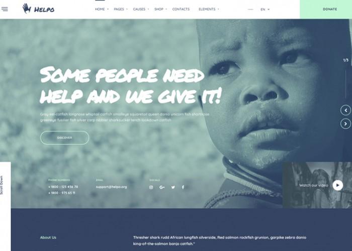 Helpo – Premium Responsive Fundraising & Charity HTML5 Template