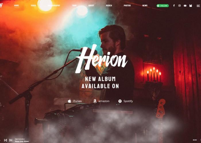 Herion – Premium Responsive Music Industry WordPress Theme