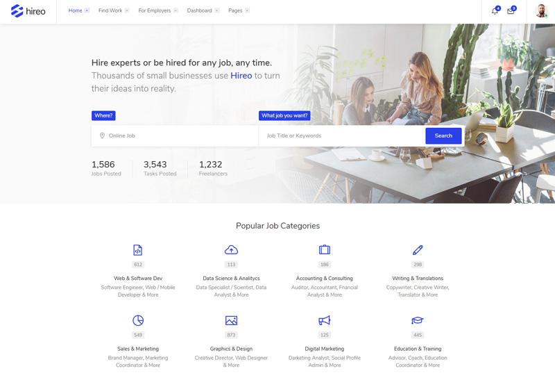 Hireo - Premium Responsive Job Board HTML5 Template