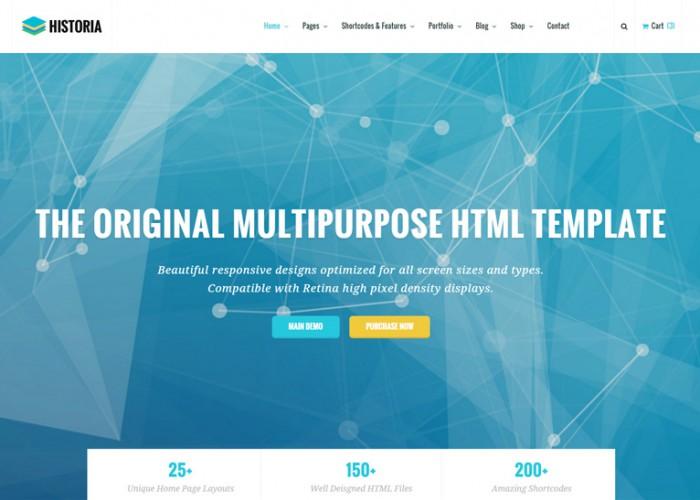 Historia – Premium Responsive Multi-Purpose HTML5 Template