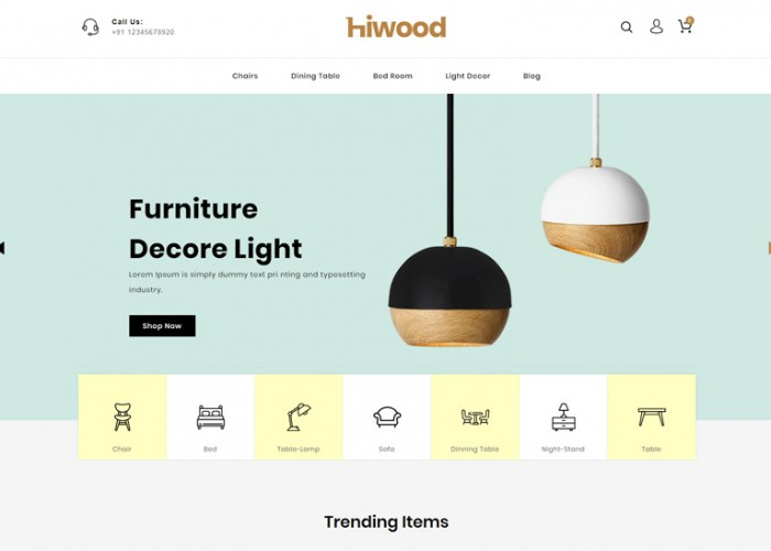 Hiwood – Premium Responsive Furniture Prestashop Theme