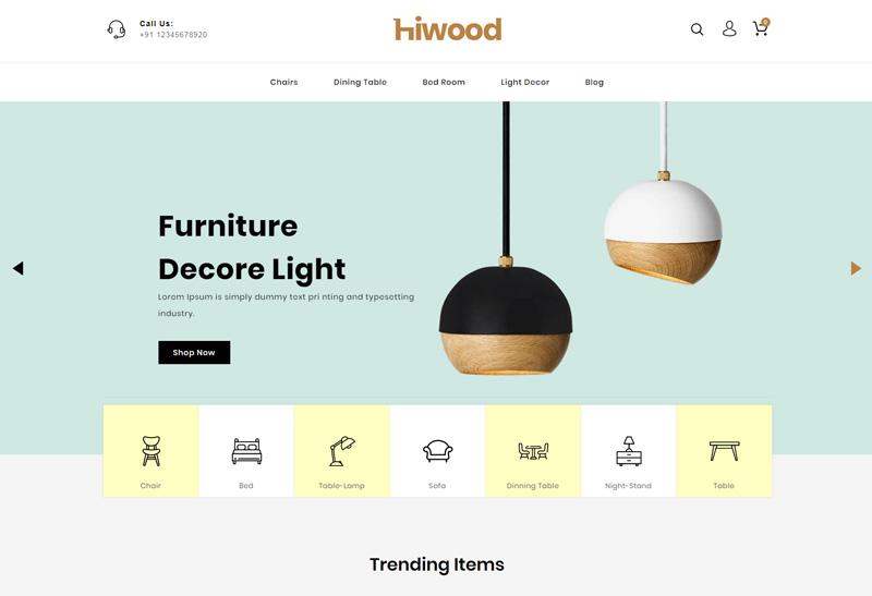 Hiwood Premium Responsive Furniture Prestashop Theme