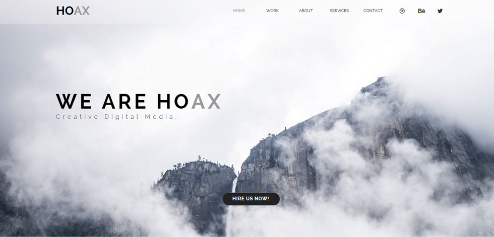 Hoax Premium Creative Multipurpose Muse Template