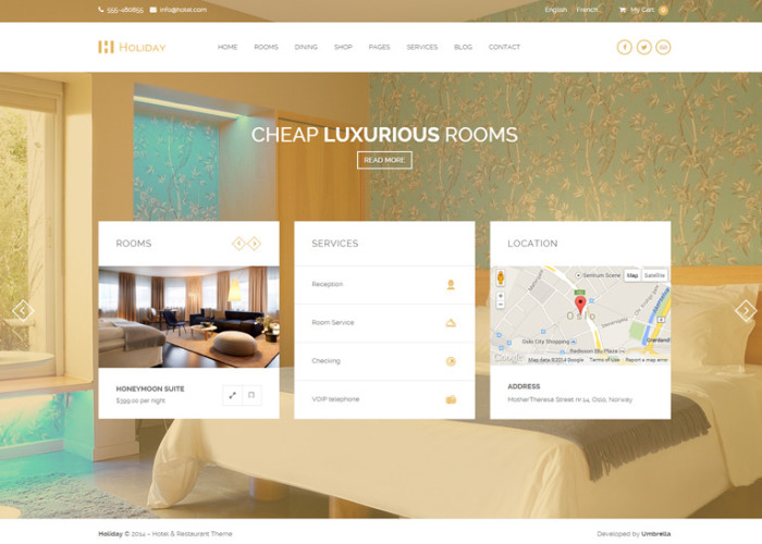 Holiday – Premium Responsive Hotel WordPress Theme