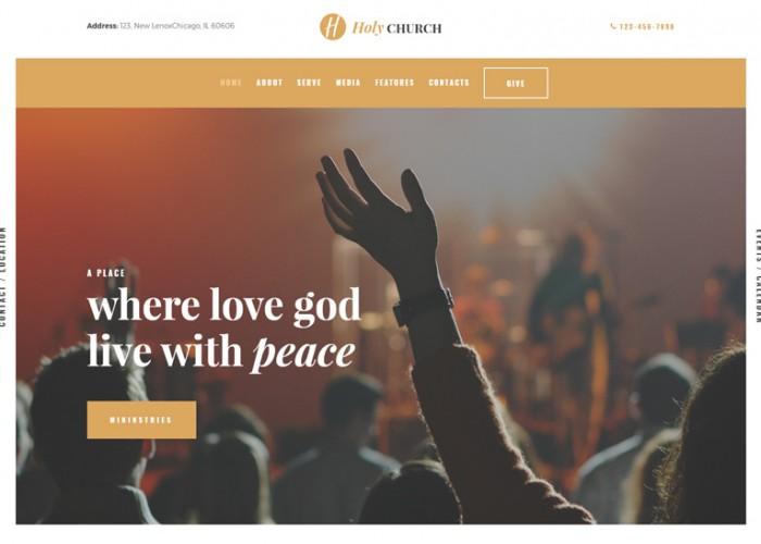 Holy Church – Premium Responsive Religion & Nonprofit WordPress Theme