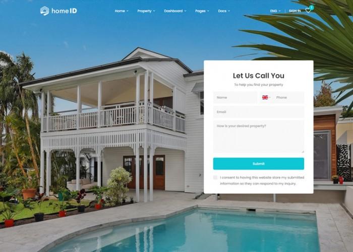 HomeID – Premium Responsive Real Estate HTML5 Template