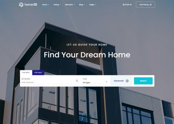 HomeID – Premium Responsive Real Estate WordPress Theme