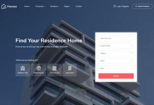 Homeo – Premium Responsive Real Estate WordPress Theme