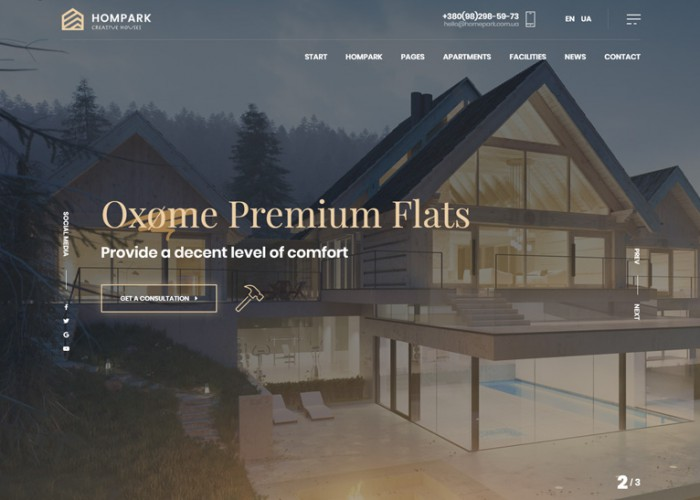 Hompark – Premium Responsive Real Estate HTML5 Template