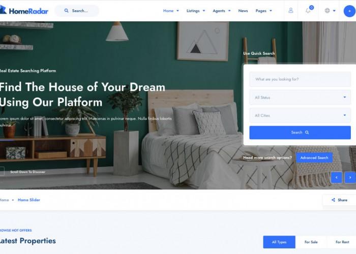 HomeRadar – Premium Responsive Real Estate WordPress Theme