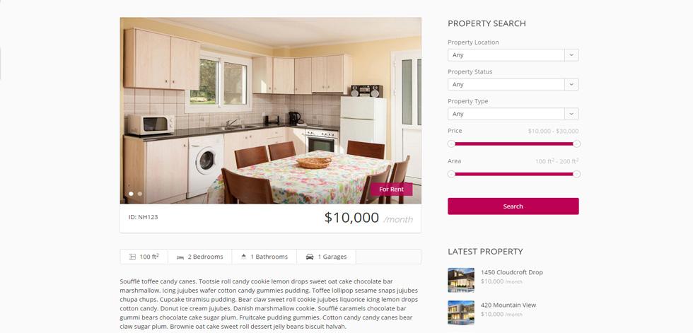 Property detail view