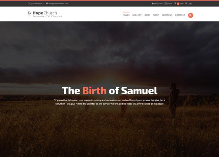 Hope – Premium Responsive Church HTML5 Template