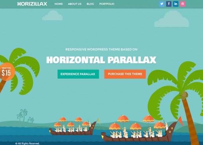 Horizillax – Premium Responsive Horizontal Parallax HTML5 Template