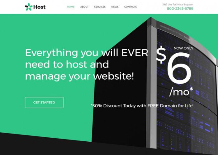Host – Premium Responsive Hosting HTML5 Template