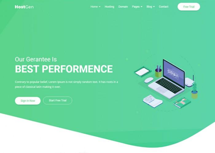 HostGen – Premium Responsive Hosting Provider HTML5 Template