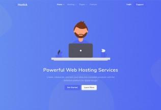 Hostick – Premium Responsive Web Hosting & Domain HTML5 Template
