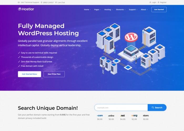 Hostlar – Premium Responsive Hosting Provider HTML5 Template