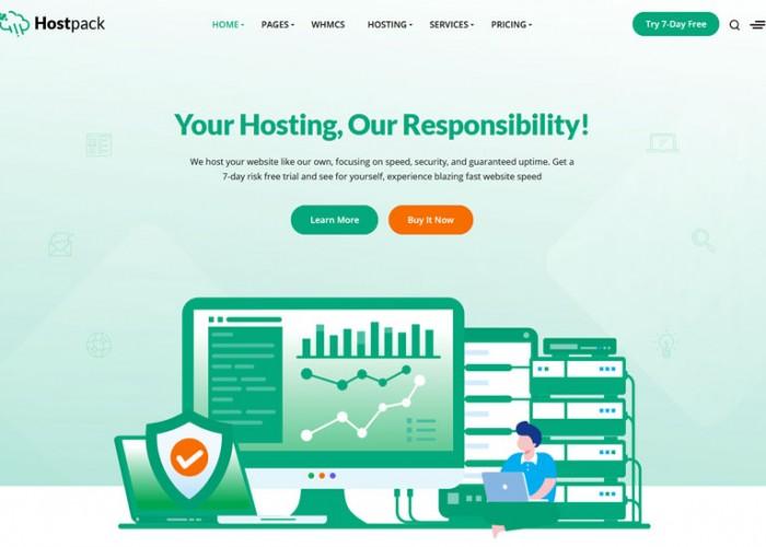 Hostpack – Premium Responsive Hosting HTML5 Template