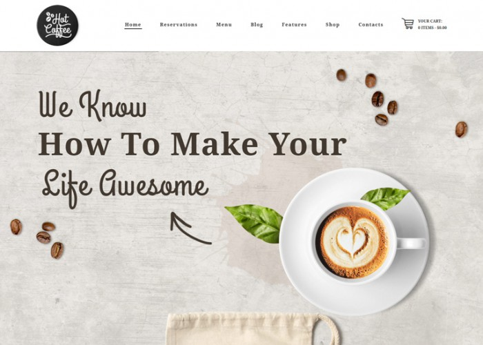 HotCoffee – Premium Responsive Cafe Restaurant Bar WordPress Theme