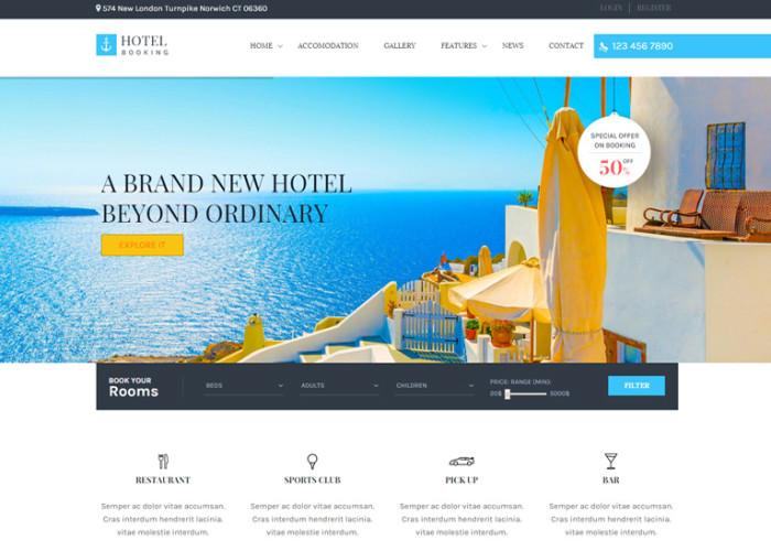 Hotel Booking – Premium Responsive WordPress Theme for Hotels