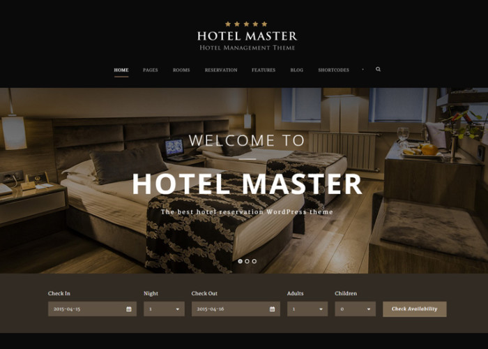 Hotel Master – Premium Responsive Hotel Booking WordPress Theme