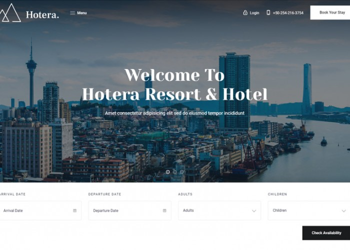 Hotera – Premium Responsive Resort and Hotel WordPress Theme