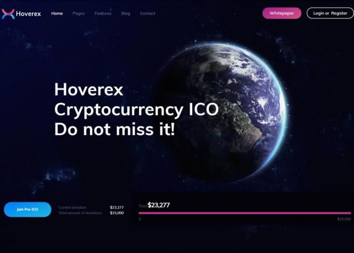 Hoverex – Premium Responsive Cryptocurrency & ICO WordPress Theme