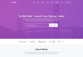 Howdy – Premium Responsive Landing Page HTML5 Template