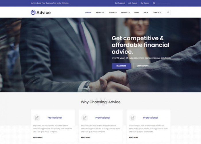 iAdvice – Premium Responsive Business Consulting HTML5 Template